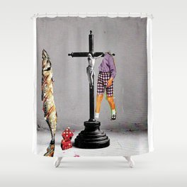 Say Hello To Heaven Shower Curtain