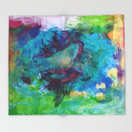 Life is a beautiful mess Throw Blanket
