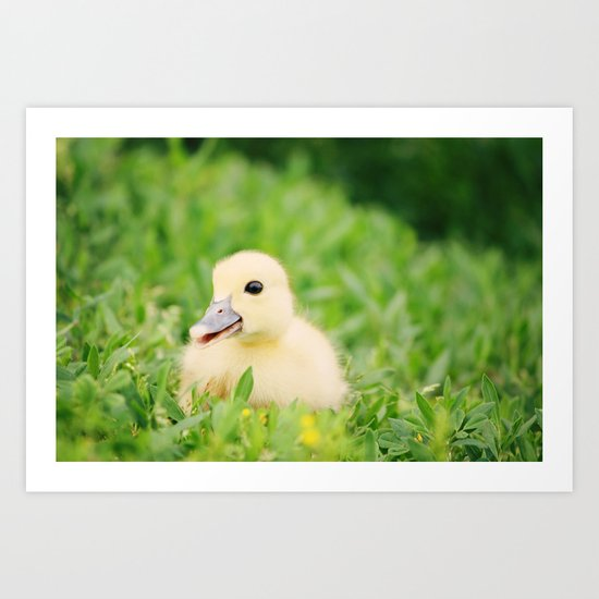 Happy-Go-Ducky Art Print