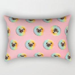 Unicorn Pug Pastel Donut Rectangular Pillow