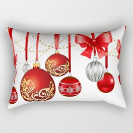 ORNATE HANGING RED CHISTMAS TREE DECORATIONS Rectangular Pillow