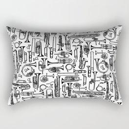 Horns B&W II Rectangular Pillow