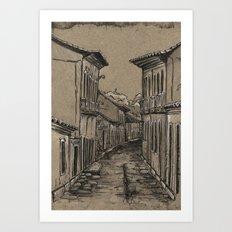 Old Village Alley Art Print