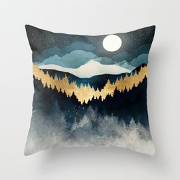 Indigo Night Throw Pillow