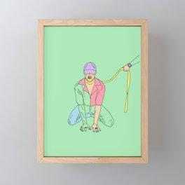 you idiot Framed Mini Art Print