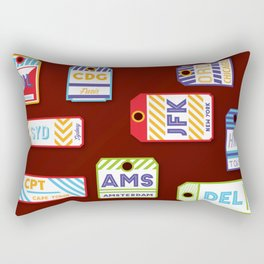Retro airport ticket Rectangular Pillow