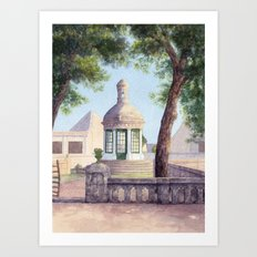 Tiny old mediterranean chapel Art Print