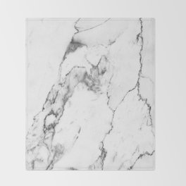 White Marble I Throw Blanket