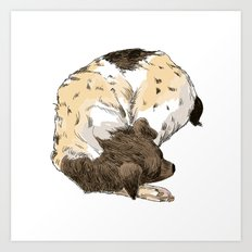 Sleeping Dog #002 Art Print