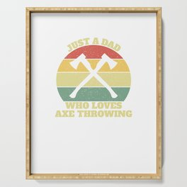 Hatchetman Axe Thrower Throwing Dad Serving Tray
