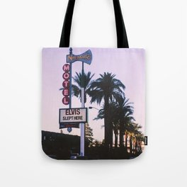 Elvis Slept Here Tote Bag