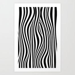 Zebra abstract 1 Art Print