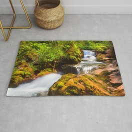 Swiss rapids. Rug