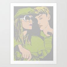 With me Art Print