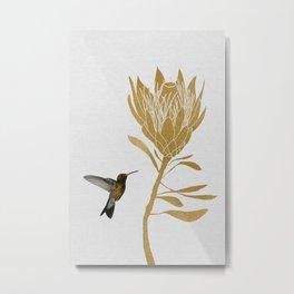 Hummingbird & Flower I Metal Print