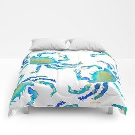 Craggy Blue Crab Comforters