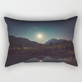 Sunny Mountain Sky Rectangular Pillow