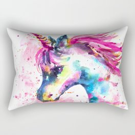 Pink Unicorn Rectangular Pillow