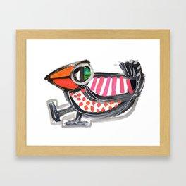 Dancing Bird Framed Art Print