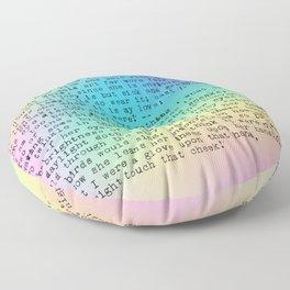 Pastel Rainbow Shakespeare! Floor Pillow