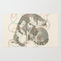a lot of cats Area & Throw Rugs featuring cats by Laura Graves