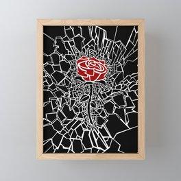 The Shattered Rose Framed Mini Art Print