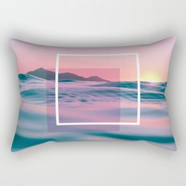 Purple And Pink Ocean Art Rectangular Pillow