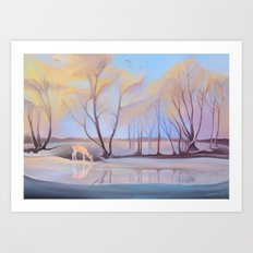 Mesmerizing Cold Art Print
