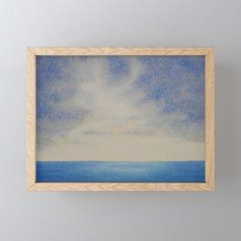 Sky and Ocean I / Watercolor Painting Framed Mini Art Print