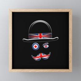 British Flag Face. Framed Mini Art Print