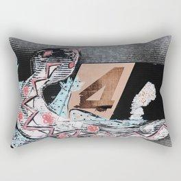 The Painted Lizard - Number Four Rectangular Pillow