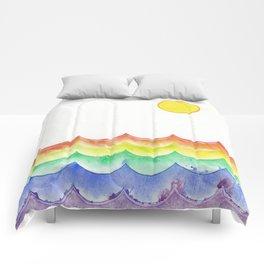 Rainbow Sea Comforters