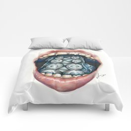 Cthulhu Lips Comforters