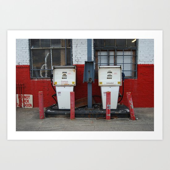 Gas, Long Beach Art Print