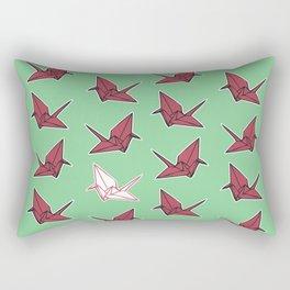 PAPER CRANES RASPBERRY MINT Rectangular Pillow
