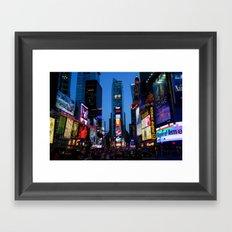 Times Square Framed Art Print