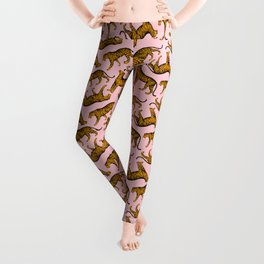 Tigers (Pink and Marigold) Leggings
