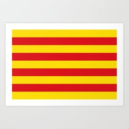 Catalan Flag - Senyera - Authentic High Quality Art Print