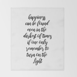 Happiness can be found Throw Blanket