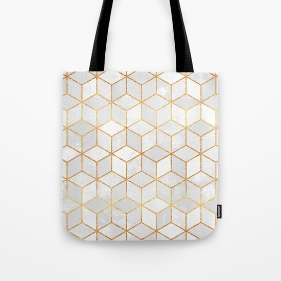 White Cubes Tote Bag