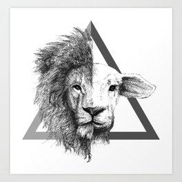 Lion and Lamb Art Print