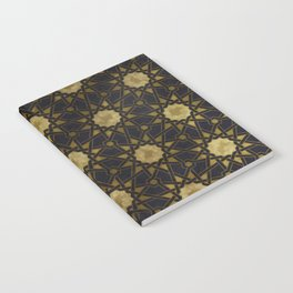 Islamic decorative pattern with golden artistic texture Notebook