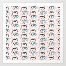 Retro Kitten Art Print