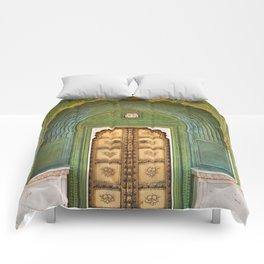 Green gate City Palace Jaipur, India Comforters