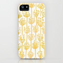 Golden Dandelions iPhone Case