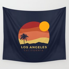 Los Angeles Sunset Wall Tapestry