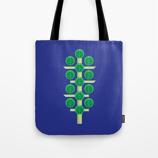 Vegetable: Brussels Sprout Blue Tote Bag