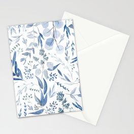 Eucalyptus Pattern - Blue Stationery Cards
