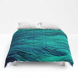 Teal Feathers Comforters