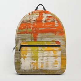 A Splash Of Citrus Grunge Abstract Backpack